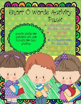 Short O Activity Pack