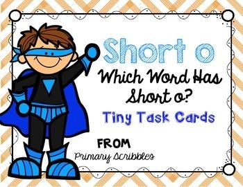 Short O Tiny Task Cards