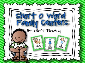 "Short Vowel ""O"" Word Family Centers {Common Core Aligned}"