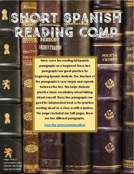 Short Spanish Reading Comprehension