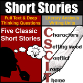 Short Stories Unit Literary Analysis: Over 20 hours of Eng