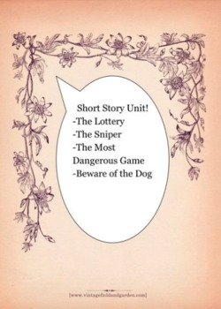 Short Story Unit: Vocab, Qizzes, tests