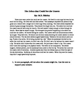 Short Story - Using Textual Evidence