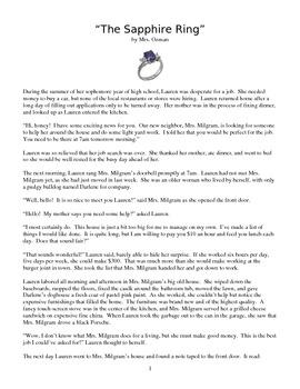 Short Story for Teaching Theme, Conflict, Plot, etc.
