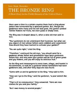 Public Domain Short Story, The Bronze Ring
