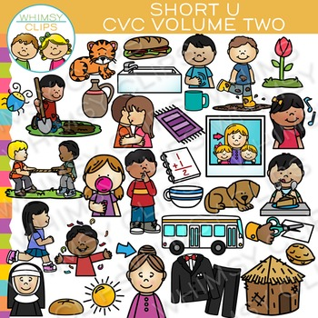 Short U CVC Clip Art - Volume Two