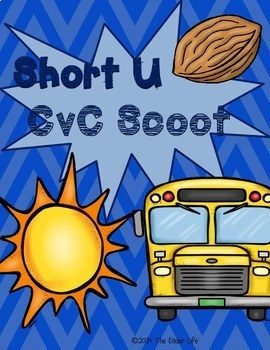 Short U CvC SCOOT Game- 20 CvC Word Cards PLUS 4 different