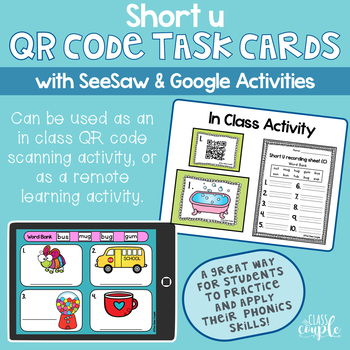Short U QR Code Task Cards
