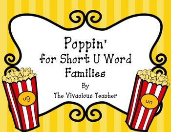 Short U Word Families: Word and Picture Sort