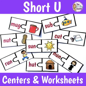 Short U Word Sort Center