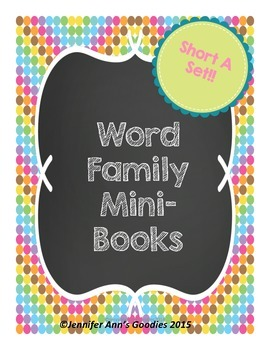 Word Families Mini-Books: Short A Set