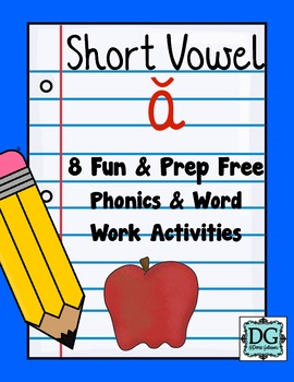 Short Vowel A Phonics and Word Work Activities