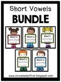 First Grade Phonics: Short Vowel Games BUNDLE
