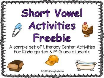 Short Vowel Activities Freebie