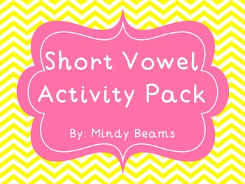 Short Vowel Activity Pack - Matching, I Have/WhoHas, Wordo