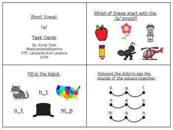 Short Vowel: BUNDLE Task Cards