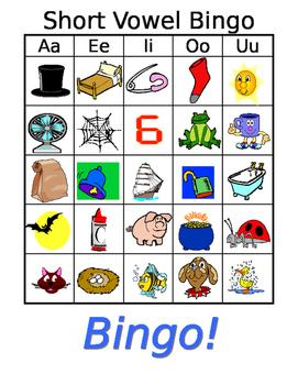 Short Vowel Bingo