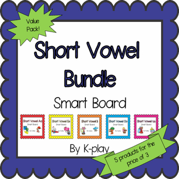 Short Vowel Games and Activities Bundle - Smart Board
