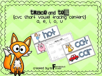 Short Vowel CVC Trace and Tell Cards