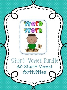No Prep! Short Vowel CVC Word Work Worksheets