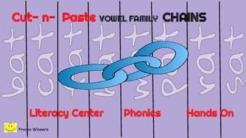 Short Vowel Chains Literacy Center Hands- On  Picture Clue