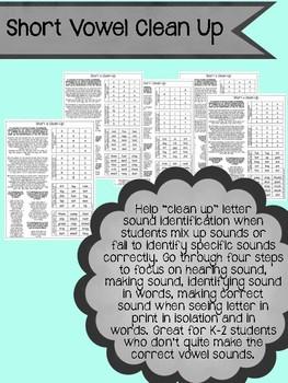 Short Vowel Clean Up: help students identify correct lette