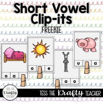 Short Vowel Clip-its! Station, Center, Fun, Kindergarten