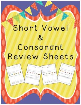 Short Vowel & Consonant Worksheets