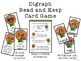 Short Vowel Digraph Read and Keep Card Game - Gingerbread