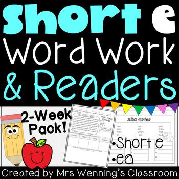 Short Vowel Ee Pack! 2 Weeks of  Lesson Plans, Activities,