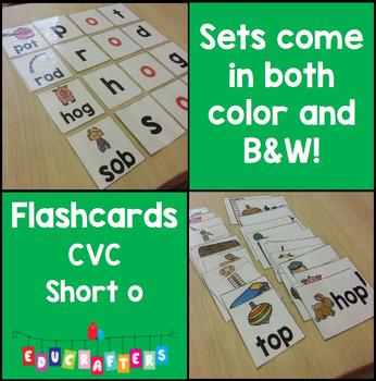 Short Vowel Flashcards - Short O CVC Word Families - Phoni