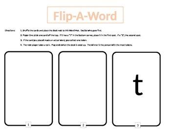 Short Vowel  Flip-A-Word game  at it ot