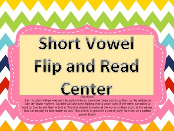 Short Vowel Flip and Read Game