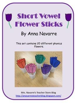 Short Vowel Flower Sticks