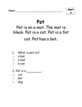 Short Vowel Fluency and Comprehension