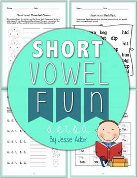 Short Vowel Fun Literacy Packet