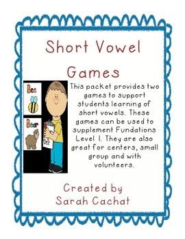 Short Vowel Game Pack