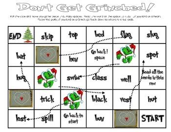 Short Vowel Grinched Game