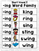 Short Vowel I Word Work {-ing Word Family}