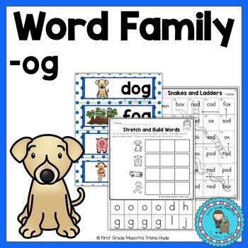 Short Vowel O Word Family OG Word Family