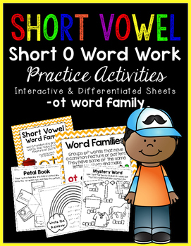 Short Vowel O Word Work {-ot Word Family}