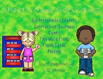 Short Vowel Phonics Intervention Activities (Differentiated)