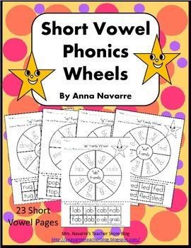 Short Vowel Phonics Wheels