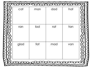 Short Vowel Picture Boxes