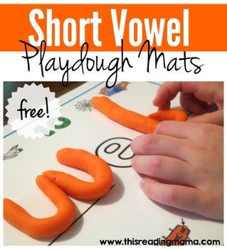 Short Vowel Playdough Mats