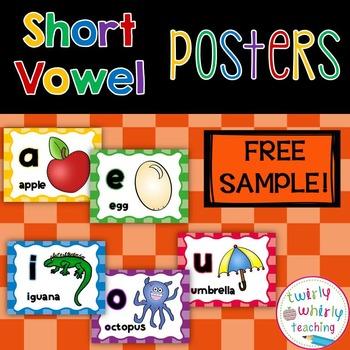 Short Vowel Posters Free Sample