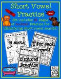 Short Vowel Practice - No Prep