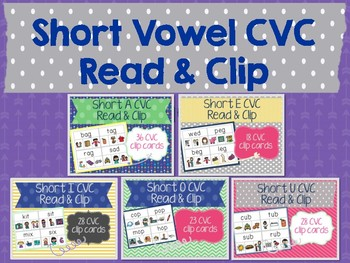 Short Vowel Read & Clip Cards Bundle