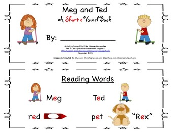 Short Vowel Readers and CVC Cards for e and i