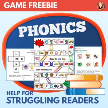 Short Vowel Review Game - Phonics Print and Play Freebie